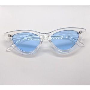 Nwt Fashion Trend Blue Lense Sunnies